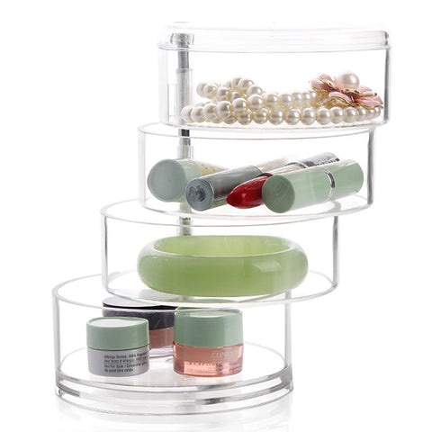 Plastic Round Transparent Multifunction Transparent Body Home Organization, 1pc Drawers