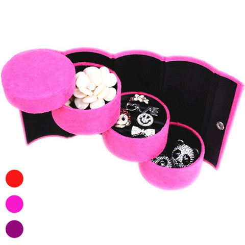 Textile Plastic Oval Multi Function Home Organization, 1pc Jewelry Boxes