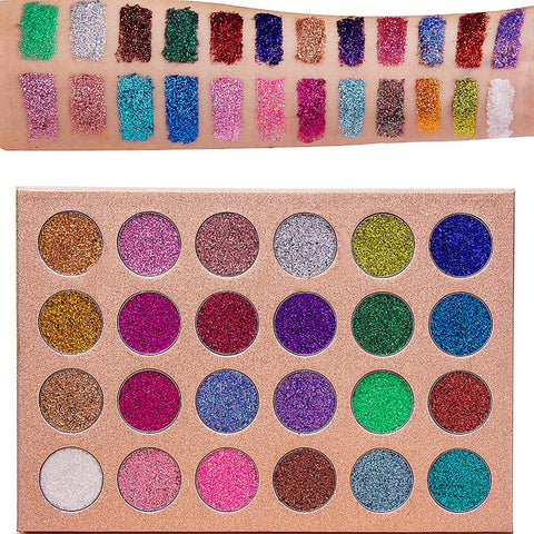 24 Colors Eyeshadow Palette Matte / Shimmer / Glitter Shine / smoky Daily Makeup / Halloween Makeup / Party Makeup Daily Cosmetic