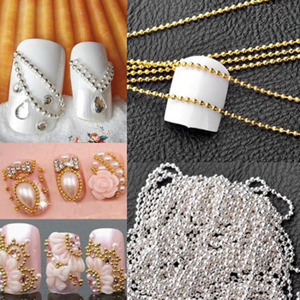 1m-manicure-a-metal-chain-of-high-quality-small-ball-yuanzhu-chain-diy-nail-gold-and-silver-decoration-optional