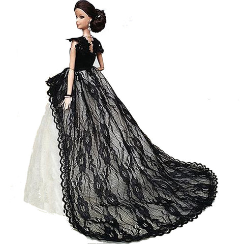 Doll Dress Party / Evening For Barbiedoll Lace Organza Dress For Girl's Doll Toy