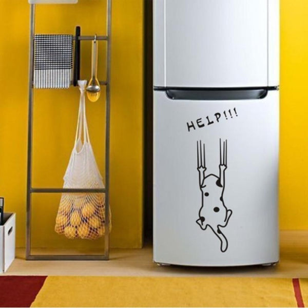 Wall Stickers Wall Decals, Cute Cat PVC Wall Stickers 1pc