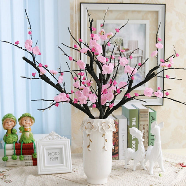 Artificial Flowers 1 Branch Simple Style Sakura Tabletop Flower