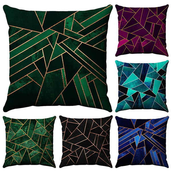 6 pcs Cotton / Linen Pillow Case, Geometic Fashion Printing Geometric Patterned