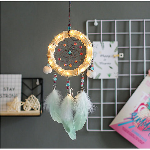 Fairy Handmade Dream Catcher Hanging Wall Decor Kids Room Decoration Wind Chimes Hanging Wedding Decoration Home Decor