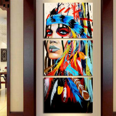 Print Rolled Canvas Prints - Abstract Modern Three Panels Art Prints