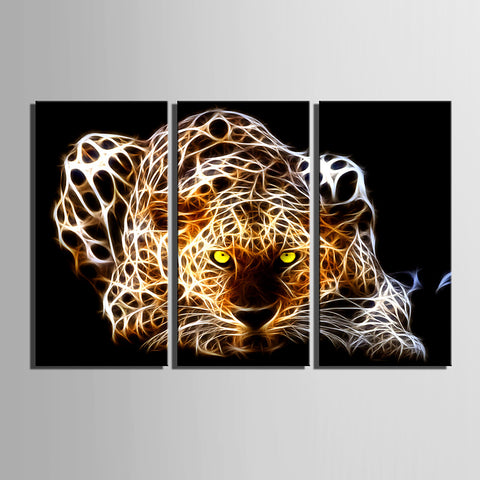 Print Rolled Canvas Prints - Animals Classic Three Panels Art Prints