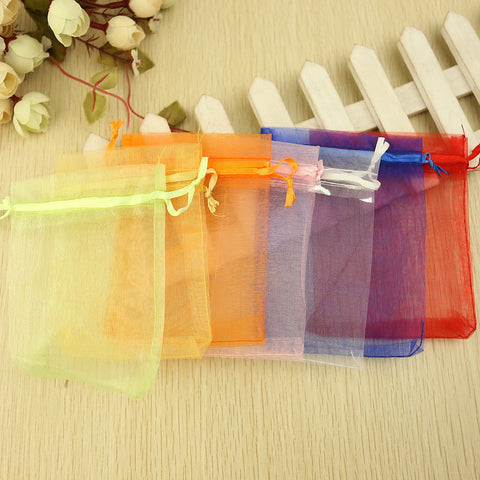 Round / Square Organza Favor Holder with Printing Favor Boxes / Favor Bags - 24