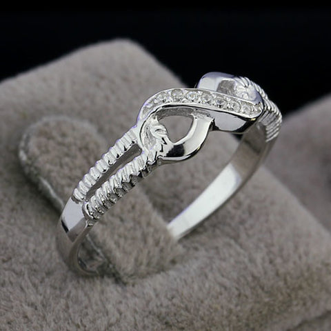 Women's Band Ring Love Infinity Fashion Sterling Silver Silver Ring Jewelry Silver For Wedding Party Gift Daily Valentine