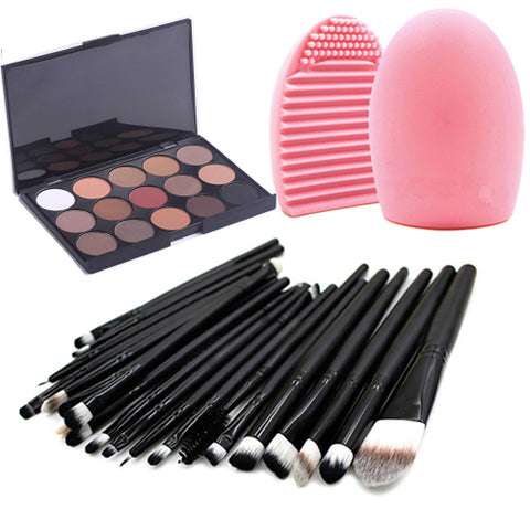 Makeup Set Eyeshadow Palette Powders Travel Eco-friendly Professional 20 pcs  Eye Dry Matte Shimmer Waterproof Fast Dry Long Lasting 15 Colors Cosmetic Grooming Supplies