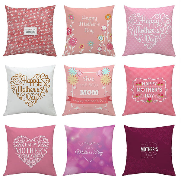 9 pcs Velvet Pillow Cover, Art Deco Novelty Letter Square European Style