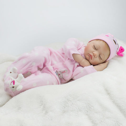 NPKCOLLECTION NPK DOLL Reborn Doll Girl Doll Baby Girl 22 inch Silicone Vinyl - lifelike Cute Hand Made Child Safe Non Toxic Lovely Kid's Girls' Toy Gift / Parent-Child Interaction / CE Certified