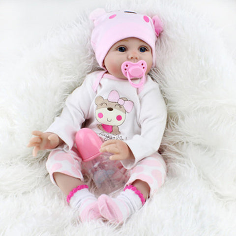 NPKCOLLECTION NPK DOLL Reborn Doll Girl Doll Baby Girl Reborn Baby Doll Silicone - Newborn lifelike Cute Lovely Parent-Child Interaction Hand Rooted Mohair Kid's Toy Gift / Hand Applied Eyelashes