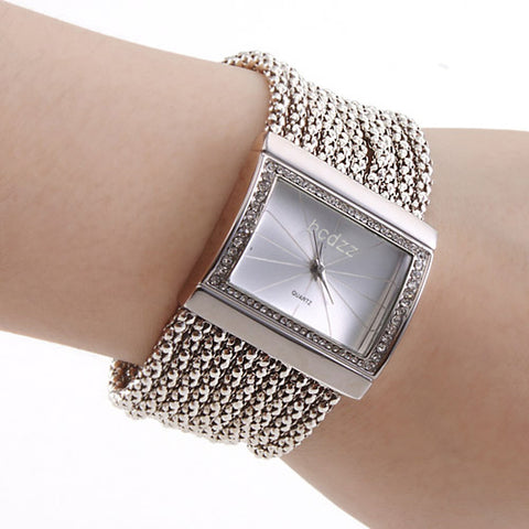 Women's Ladies Luxury Watches Bracelet Watch Square Watch Japanese Quartz Copper Silver Casual Watch Analog Luxury Sparkle Fashion Elegant - Silver One Year Battery Life / Stainless Steel