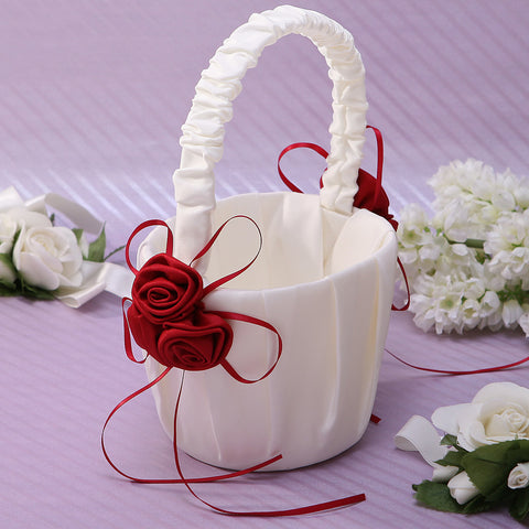 "Flower Basket Satin 8 3/5"" (22 cm) Petal / Sash"