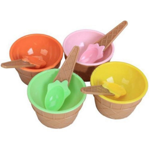 Durable Children Ice Cream Bowls Spoons Set Ice Cream Cup