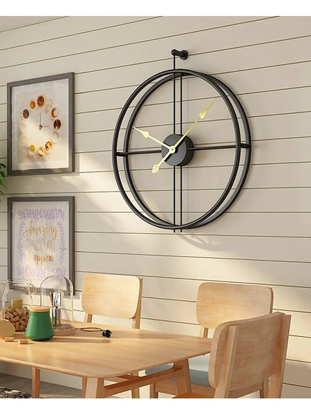 "Wall Clock,Modern Contemporary Fashion Stainless steel Irregular Indoor 20"" x 24"" (50cm x 60cm)"