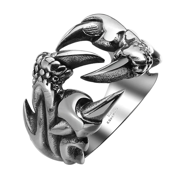 Men's Ring wrap ring Stainless Steel Titanium Steel Dragon Personalized Fashion Ring Jewelry Silver For Halloween Daily Casual Sports 9 / 10 / 11
