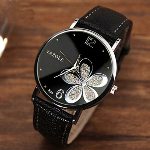 Women's Ladies Wrist Watch Quartz Quilted PU Leather Black / Brown Casual Watch Analog Flower Fashion - 8# 9# 10# One Year Battery Life / Stainless Steel / SSUO 377
