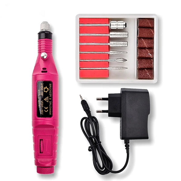 Mini Electric Grinder Drill Tool Nail Gel Polish Removing Drill Manicure Machine Grinding Rotary Tool Kit for Milling