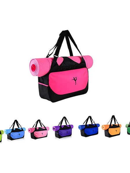 20 L Yoga Mat Bag / Tote - Exercise & Fitness, Yogis, Bikram Large Capacity, Waterproof, Lightweight Canvas leather, Oxford cloth, Eco-Friendly Green, Pink, Fuchsia