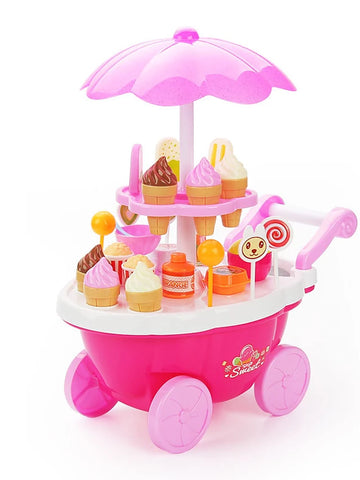 Ice Cream Cart Toy Toy Car Pretend Play Ship Furniture Ice Cream Kid's Girls' Toy Gift 1 pcs