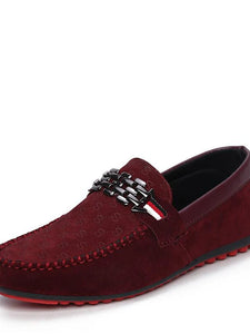 Men's Comfort Shoes PU(Polyurethane) Spring / Fall Loafers & Slip-Ons Walking Shoes Black / Red / Blue / Rivet / Outdoor / EU40