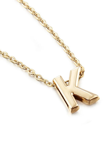 Women's Pendant Necklace Monogram Alphabet Shape Cheap Ladies Simple Style Fashion Gold Plated Yellow Gold Alloy W X Z Necklace Jewelry 1pc For Party Gift Daily Casual