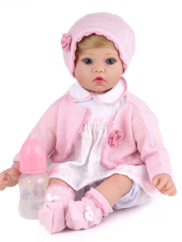 NPKCOLLECTION NPK DOLL Reborn Doll Girl Doll Baby Girl 20 inch Silicone Vinyl - Newborn lifelike Cute Hand Made Child Safe Non Toxic Kid's Unisex / Girls' Toy Gift / CE Certified / Natural Skin Tone