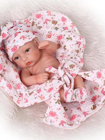 NPKCOLLECTION NPK DOLL Reborn Doll Girl Doll Baby Boy Baby Girl 12 inch Full Body Silicone Silicone Vinyl - Newborn lifelike Child Safe Non Toxic Tipped and Sealed Nails Natural Skin Tone Kid's