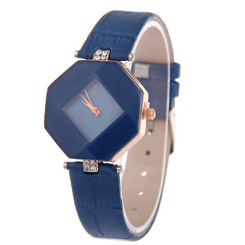 Women's Wrist Watch Quartz Leather Black / White / Red Casual Watch Analog Ladies Charm Fashion - Dark Blue Purple Red One Year Battery Life / Tianqiu 377