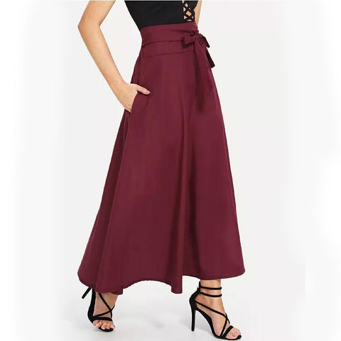Women's Daily / Going out Asymmetrical Swing Skirts - Solid Colored High Waist Black Wine Green S M L / Loose