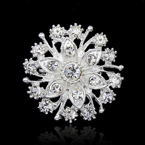 Women's Brooches Round Cut Fashion Rhinestone Brooch Jewelry Silver For Party Special Occasion Birthday Gift Daily