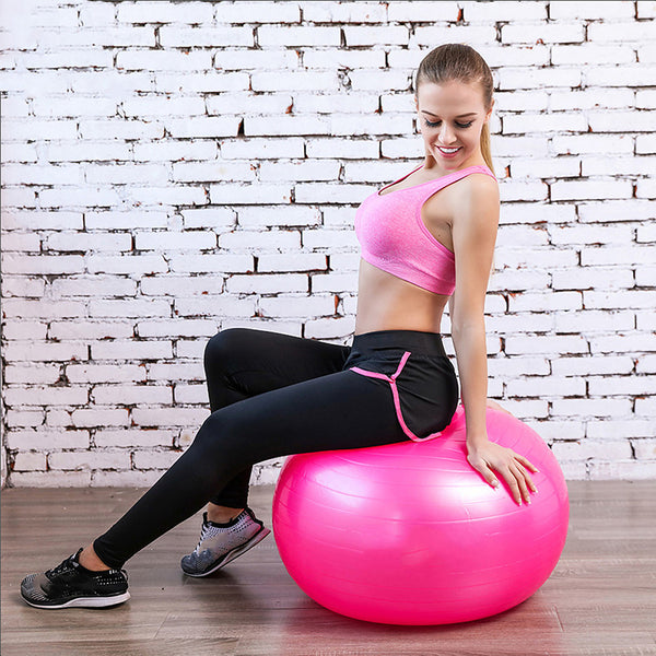 95cm Exercise Ball / Yoga Ball Professional, Explosion-Proof, Thick PVC Support 500 kg With Balance Training For Yoga / Pilates / Fitness