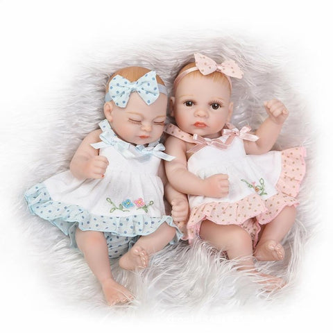 NPKCOLLECTION NPK DOLL Reborn Doll Girl Doll Baby Girl 10 inch Full Body Silicone Silicone Vinyl - Newborn lifelike Cute Hand Made Child Safe Non Toxic Kid's Unisex Toy Gift / Natural Skin Tone