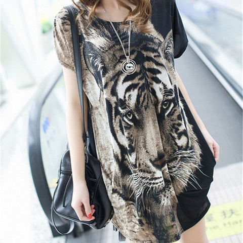 korean version New  clothes sexy tiger head hip women shirts  gothic  graphic t shirts