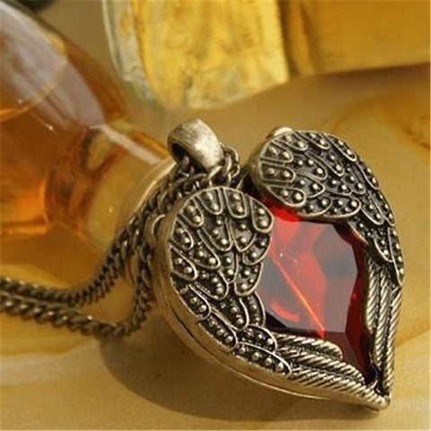 High quality Valentines Gift Heart Women Jewelry Romantic Fancy Heart Pendant collar largos Fashion