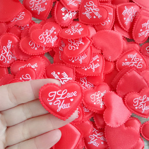 100PCS 3.5CM Red Love Heart Flower Petals for  Valentine Day Decoration Throwing Confetti Party Decoration