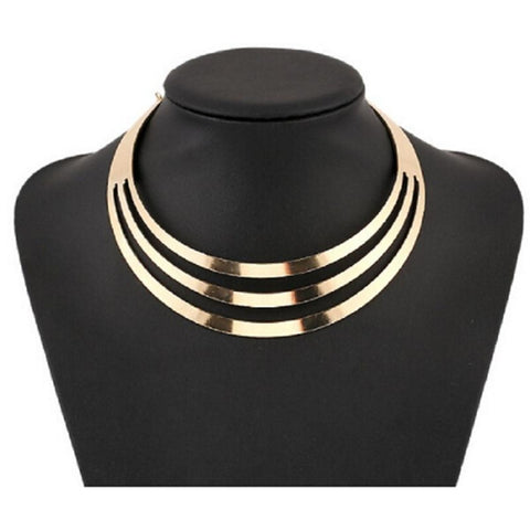 Women's Pearl Choker Necklace Statement Necklace Layered Bib Ladies European Fashion Multi Layer Alloy Gold Silver Necklace Jewelry For Party Special Occasion Birthday Gift