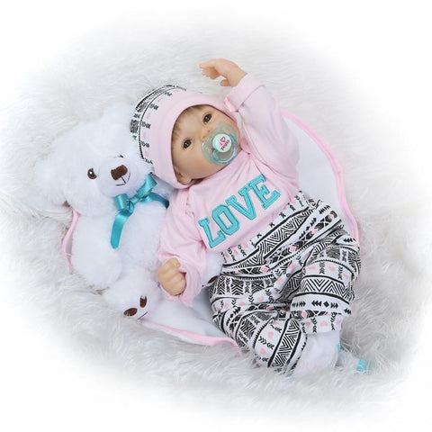 NPKCOLLECTION NPK DOLL Reborn Doll Girl Doll Baby Girl 24 inch Newborn lifelike Gift Parent-Child Interaction Hand Applied Eyelashes Tipped and Sealed Nails Kid's Girls' Toy Gift / Floppy Head