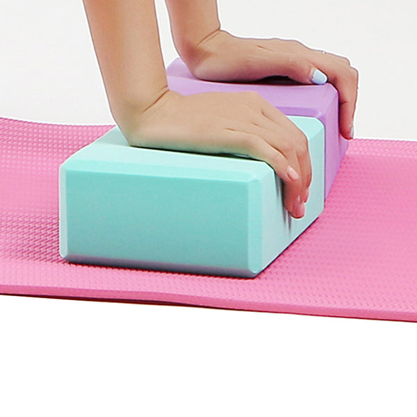 Yoga Block 1 pcs High Density, Moisture-Proof, Lightweight, Odor Resistant EVA Support and Deepen Poses, Aid Balance And Flexibility For Pilates / Fitness / Gym Purple, Blue, Pink