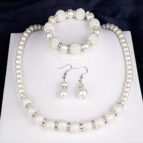 Women's Bridal Jewelry Sets Ladies Fashion Elegant everyday Pearl Earrings Jewelry White For Wedding Party Anniversary Congratulations Gift Daily