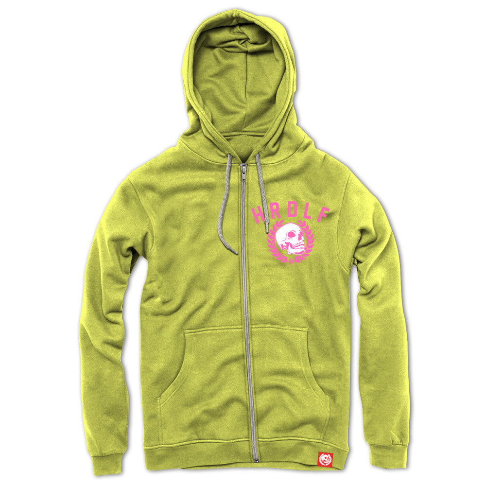 All over Lemon Zinger zip front hoodie.