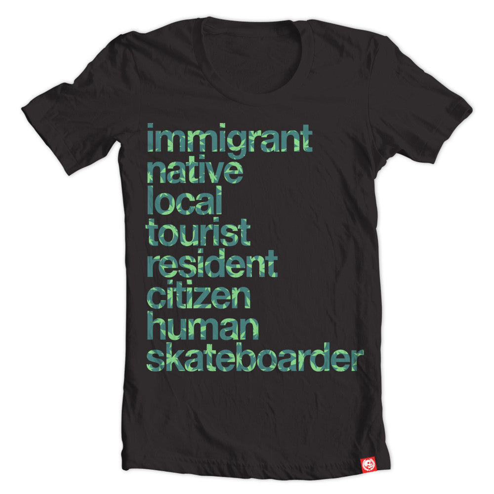 Immigrant Hemp black tee.