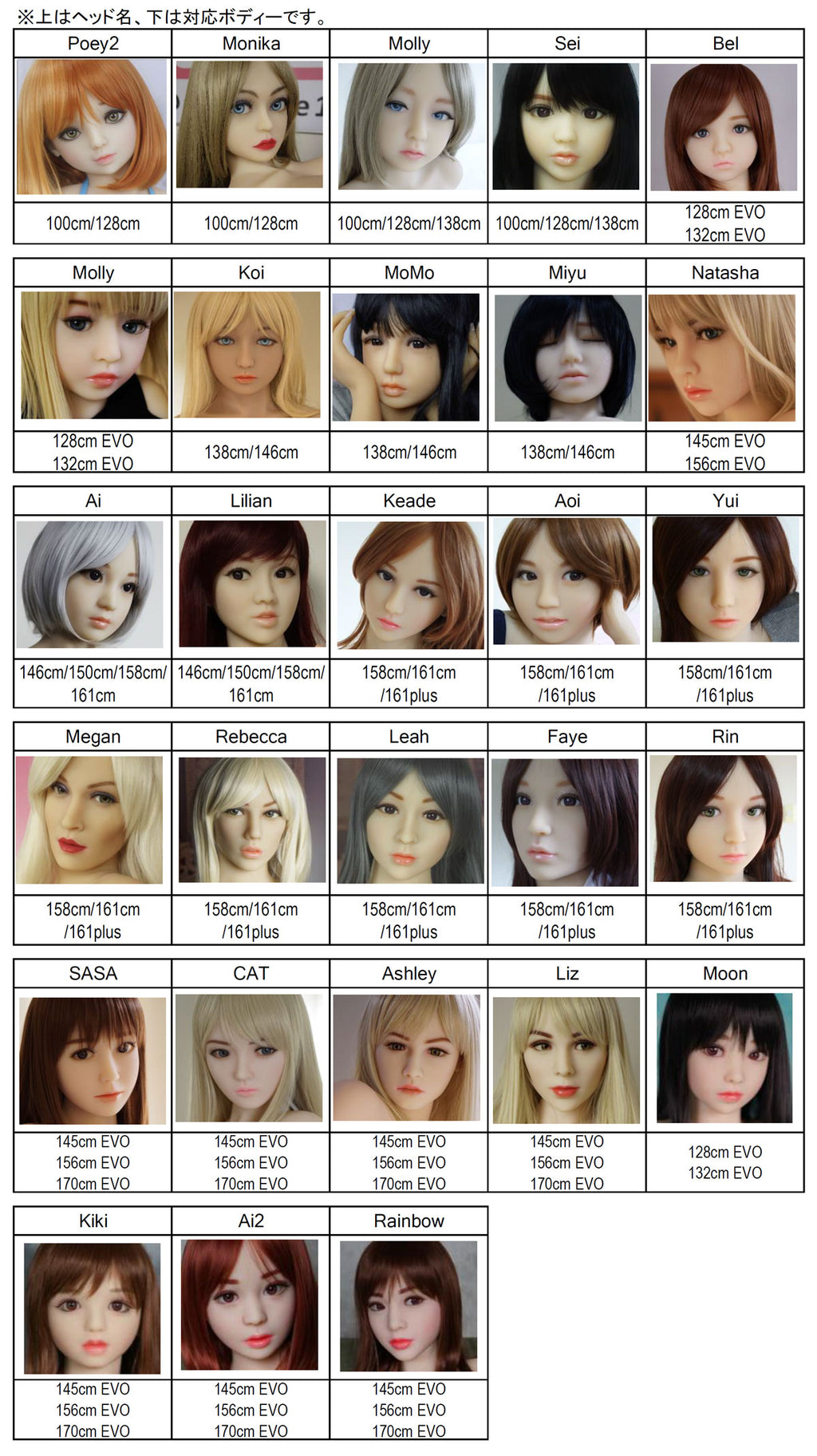 Dollhouse 168 (Evo 168) doll head