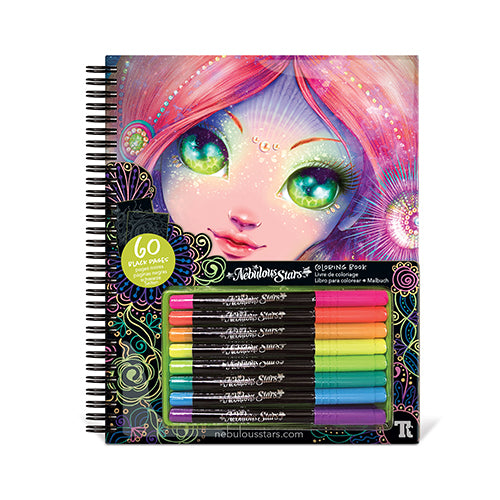 Nebulous Stars Black Pages Colouring Book 11111