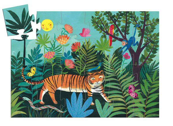 Djeco Silhouette Puzzle The Tiger's Walk 24 Pieces