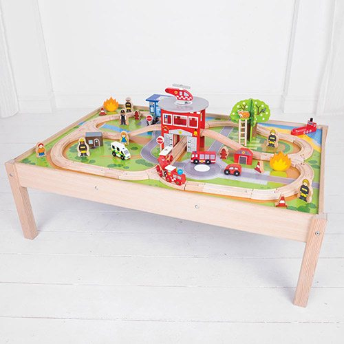 Big Jigs Fire Station Train Set and Table BJT049