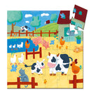 Djeco Silhouette Puzzle The Cows On The Farm 24 Pieces