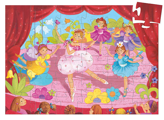 Djeco Silhouette Puzzle The Ballerina With The Flower 36 Pieces